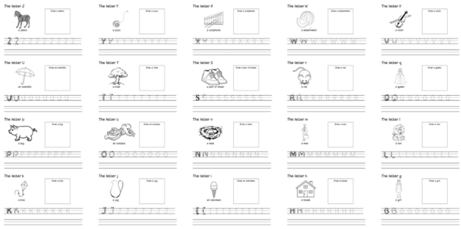 Preview of worksheets done with Microsoft Word
